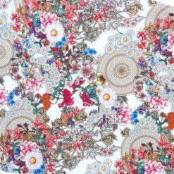 Mandalalı Çiçekler Kumaş