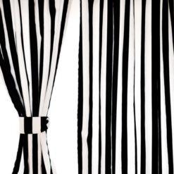 Siyah Beyaz Çizgili Perde