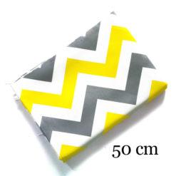 Sarı Gri Zigzag Parça Kumaş