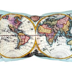 Dünya Haritası Desenli Kırlent