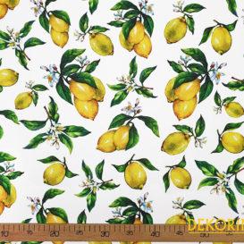 Limon Desenli Kumaş