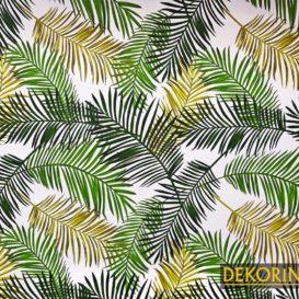 Retro Palmiye Yaprakları Kumaş