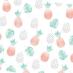 Sevimli Ananaslar Kumaş