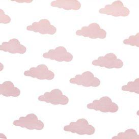 Pembe Sevimli Bulutlar Kumaş