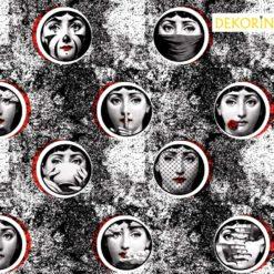 Fornasetti Kadınları Kumaş