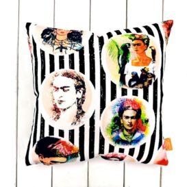 Frida Kahlo Desenli Kırlent