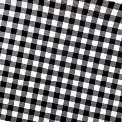 Siyah Pötikare Desenli Kumaş