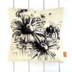 Arılar ve Çiçekler Kırlent