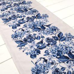 Mavi Soft Çiçekler Runner