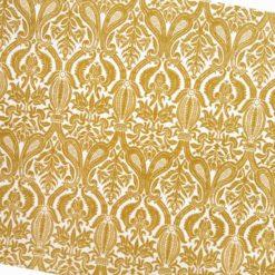 Altın Damask Desenli Kumaş