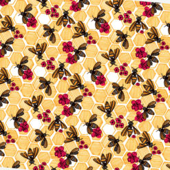 Arılar ve Petekler Kumaş