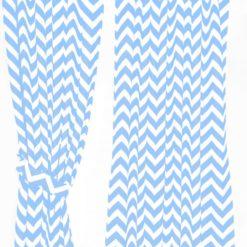 Mavi Zigzaglı Perde