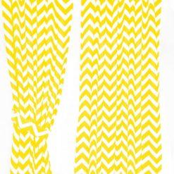 Sarı Zigzaglı Perde
