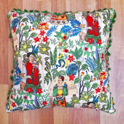 Frida Kahlo Bahçesi Püsküllü Kırlent