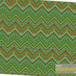 Zigzaglı Yeşil Aztek Kumaş