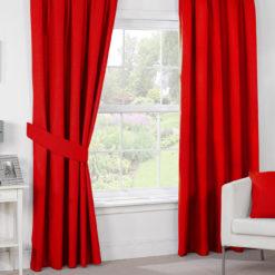 Kırmızı Dekoratif Perde