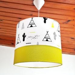 Sarı Çadırlar ve Kaktüsler Sarkıt Lamba