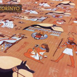 Mısır Firavunları Desenli Kumaş