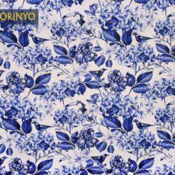 Mavi Soft Çiçekli Kumaş