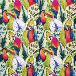 Papağan ve Tukan Kuşu Desenli Kumaş