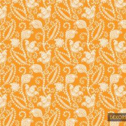 Turuncu Şal Desenli Kumaş