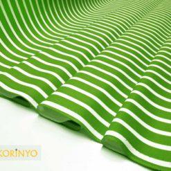 Yeşil Çizgili Kumaş