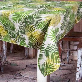 Retro Palmiye Desenli Masa Örtüsü