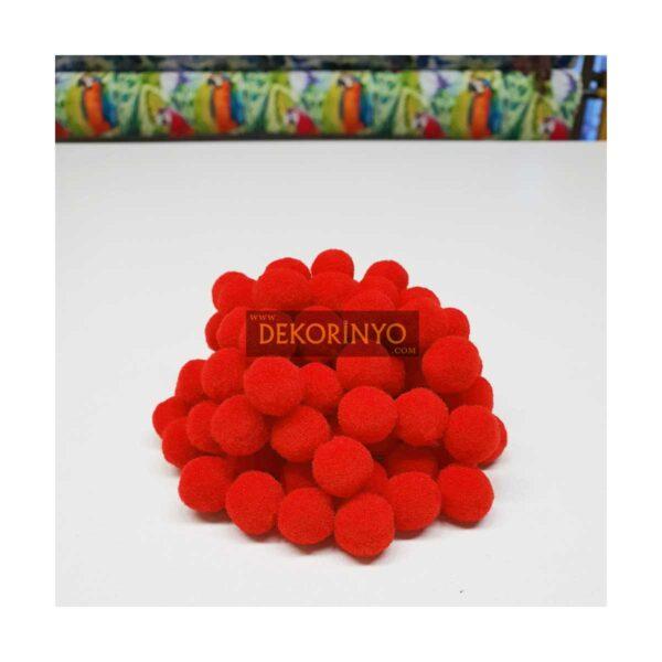 Kırmızı Ponpon Top