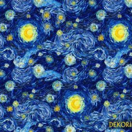 Van Gogh Yıldızlı Gece Kumaş