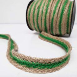 Yeşil Jüt Örgü Şerit
