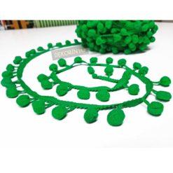 Zümrüt Yeşili Ponpon Şerit