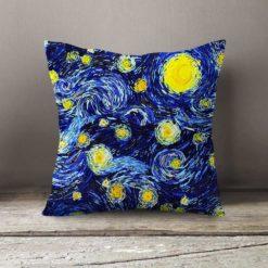 Van Gogh Yıldızlı Gece Yastık