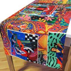 Frida Kahlo Desenli Dekoratif Runner