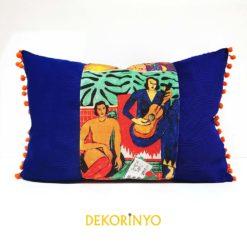 Frida Kahlo Müzikali Dikdörtgen Kırlent
