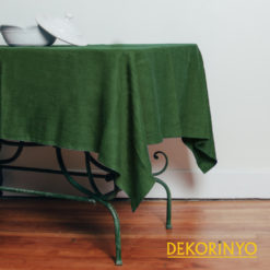 Haki Yeşil Renkli Masa Örtüsü