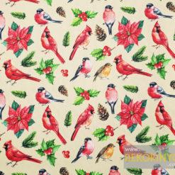 Saka Kuşu Desenli Döşemelik Kumaş