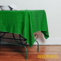 Orman Yeşil Renkli Masa Örtüsü