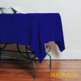 Parlament Mavi Renkli Masa Örtüsü