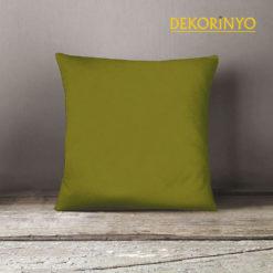 Yağ Yeşili Renkli Dekoratif Kırlent