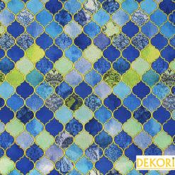 Motifli Moroccan Desenli Döşemelik Kumaş
