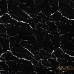 Siyah Mermer Desenli Döşemelik Kumaş