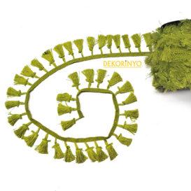 Yağ Yeşili Püskül Şerit