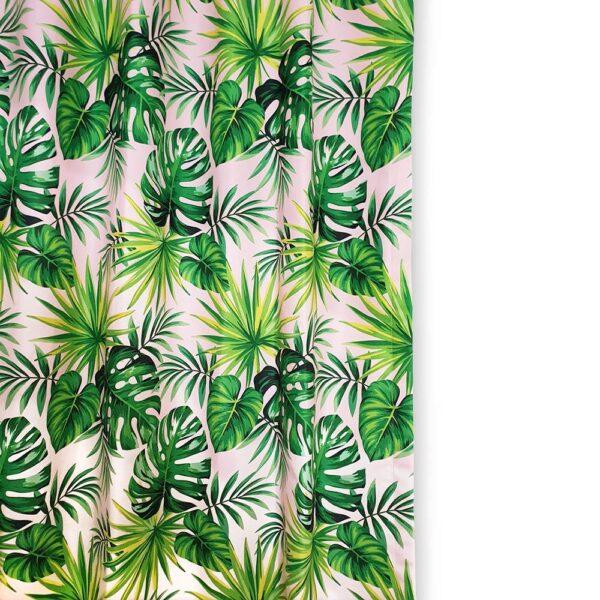 Deve Tabanı Yaprakları Desenli Perde