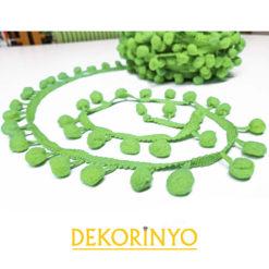 Açık Yeşil Ponpon Şerit