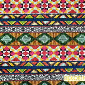 Etnik Aztek Desenli Döşemelik Kumaş