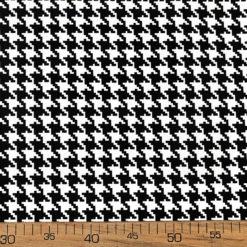 Küçük Kaz Ayağı Desenli Döşemelik Kumaş