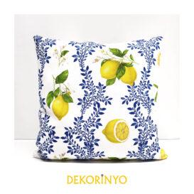 Limon Çiçeği Desenli Kırlent