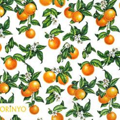 Portakal Desenli Döşemelik Kumaş