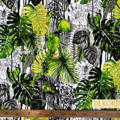 Botanik Yaprak Desenli Döşemelik Kumaş