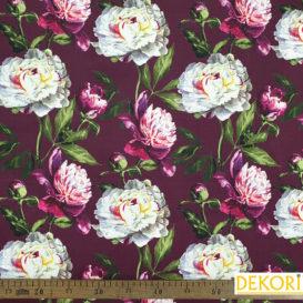 Şakayık Çiçeği Desenli Döşemelik Kumaş